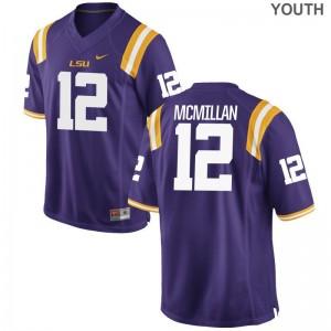 Limited Purple Justin McMillan Jerseys S-XL Youth(Kids) LSU