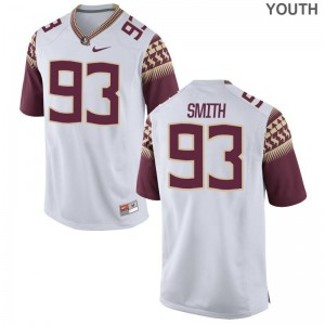 Florida State Seminoles Jerseys of Justin Smith For Kids White Game