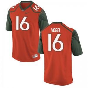 Justin Vogel Kids Orange Jersey S-XL Limited Miami Hurricanes