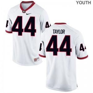 UGA Bulldogs Jerseys S-XL Juwan Taylor Limited Youth - White