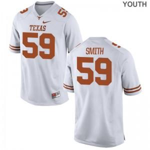 Kaleb Smith High School Jersey Youth(Kids) University of Texas Limited - White
