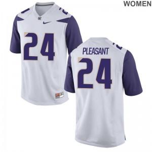 University of Washington Kamari Pleasant Jerseys White Women Game Jerseys