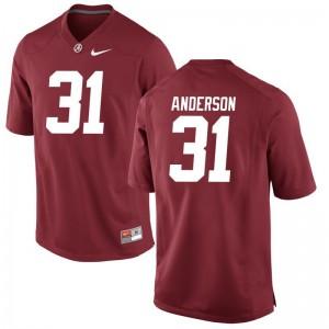 Alabama Crimson Tide Keaton Anderson Jerseys S-3XL Red Game For Men