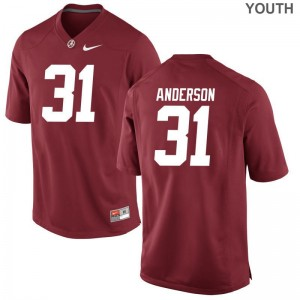 Bama Keaton Anderson Player Jerseys Game Kids - Red