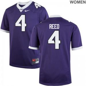 TCU Horned Frogs Jerseys S-2XL Keenan Reed Womens Game - Purple