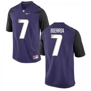 Washington Limited Keishawn Bierria For Men Purple High School Jerseys