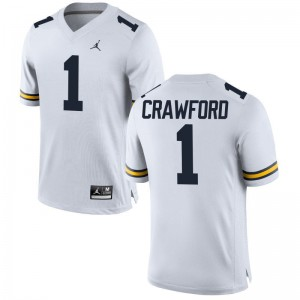 University of Michigan Jersey of Kekoa Crawford Limited Mens Jordan White