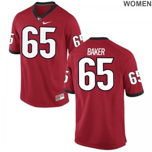 Kendall Baker Ladies College Jersey University of Georgia Limited - Red