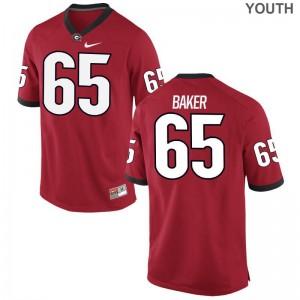 Kendall Baker Georgia Bulldogs NCAA Jerseys Youth(Kids) Red Limited Jerseys
