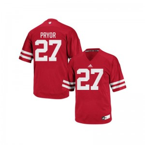 Kendric Pryor Wisconsin Badgers Jersey S-2XL Authentic For Women Red