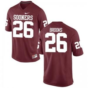 OU Sooners Crimson Game Mens Kennedy Brooks NCAA Jersey