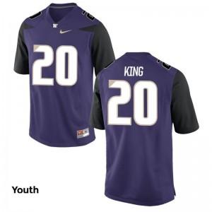Kevin King Youth(Kids) Purple Jersey S-XL Washington Game