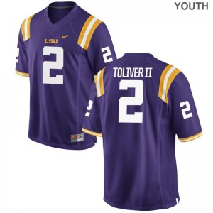 Kevin Toliver II Louisiana State Tigers Jerseys Limited Purple Kids Jerseys