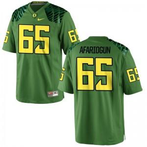 Mens Limited Apple Green Oregon Ducks Jerseys of Khalil Afariogun