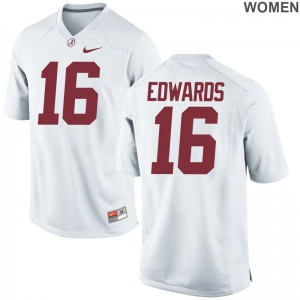 Kyle Edwards University of Alabama Ladies Jerseys White College Game Jerseys