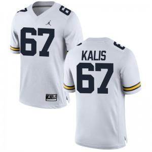 Kyle Kalis Michigan College Jersey Jordan White Limited Mens Jersey