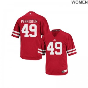 Wisconsin Jerseys of Kyle Penniston For Women Replica - Red