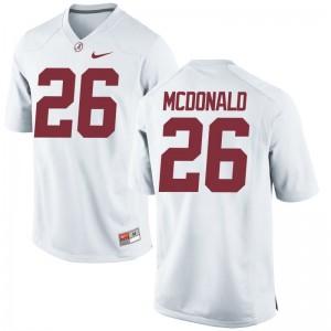 Alabama College Kyriq McDonald Game Jerseys White For Men
