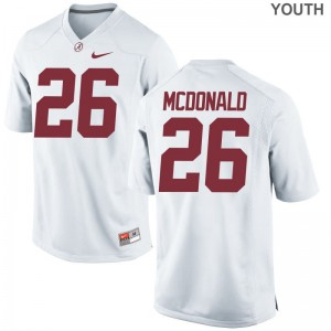 Alabama Crimson Tide Limited White Youth Kyriq McDonald Jersey S-XL