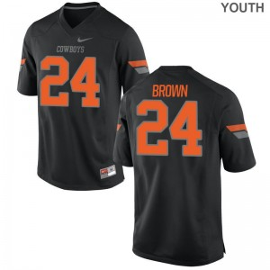 Kids Limited Oklahoma State Player Jersey of La'Darren Brown - Black