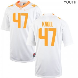 UT Limited Youth Landon Knoll College Jersey - White
