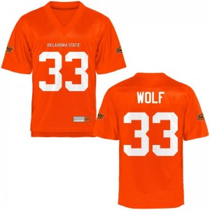 OSU Cowboys Landon Wolf Jersey S-2XL Orange Limited For Women