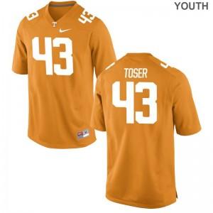 Tennessee Laszlo Toser Kids Orange Limited Football Jerseys