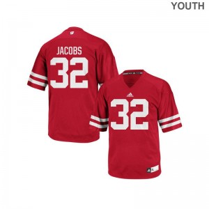 Red Replica For Kids University of Wisconsin High School Jersey Leon Jacobs