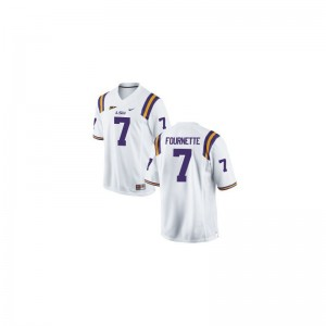 LSU Leonard Fournette Jersey S-3XL For Men Game - White