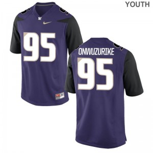Washington Levi Onwuzurike Jersey S-XL Purple Game Youth(Kids)