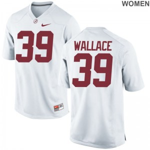 Limited For Women Alabama Crimson Tide NCAA Jersey Levi Wallace - White