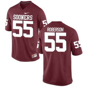 Oklahoma Sooners Logan Roberson Football Jerseys Limited Crimson Men