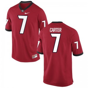 Lorenzo Carter Mens Jerseys Game UGA Bulldogs - Red