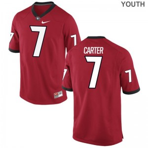 Georgia Lorenzo Carter Jersey S-XL Limited Youth Red