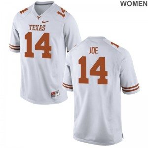 Womens White Game Texas Longhorns Jersey of Lorenzo Joe