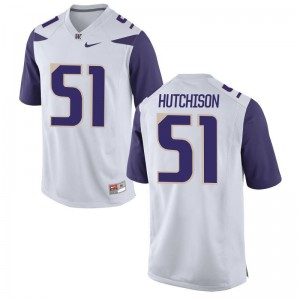 UW Luke Hutchison Jerseys White Womens Game