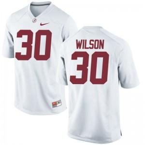 Bama Mack Wilson Game White Mens Jersey