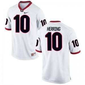 UGA Bulldogs Malik Herring Game Men Player Jersey - White