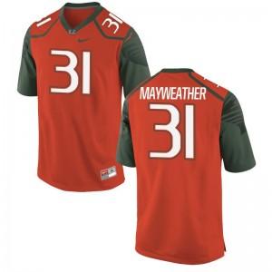 Malik Mayweather Hurricanes Jerseys Men Limited - Orange