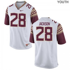 Youth(Kids) Malique Jackson Jerseys S-XL Seminoles White Limited