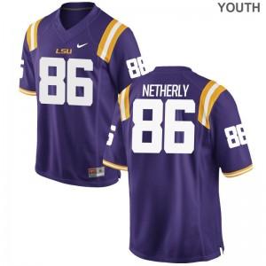 Mannie Netherly Youth Jersey S-XL Game Purple LSU