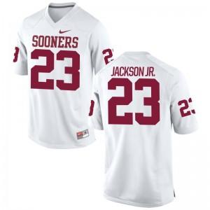 Sooners Mark Jackson Jr. Men Game Jerseys - White