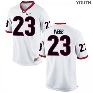 UGA Youth(Kids) White Limited Mark Webb Jerseys S-XL