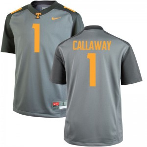 Vols Marquez Callaway College Jersey Gray Limited Mens
