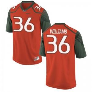 Marquez Williams University of Miami Jersey Men Orange Limited Jersey