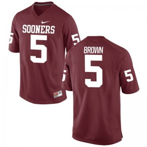 Oklahoma Football Jersey of Marquise Brown Mens Game Crimson