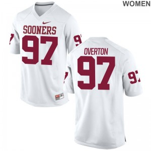 Oklahoma Marquise Overton Jerseys Limited White For Women