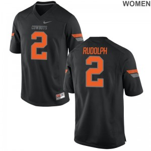 OK State Limited For Women Black Mason Rudolph Jersey S-2XL