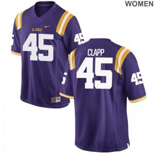 Matt Clapp LSU Tigers Jersey S-2XL For Women Game Purple