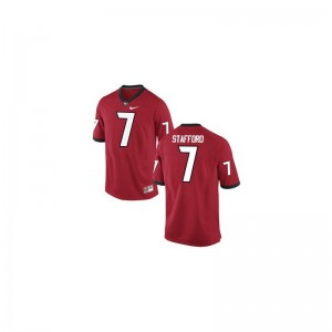 Men Limited High School UGA Bulldogs Jersey Matthew Stafford Red Jersey